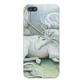 iPhone 5 Case Endroit d'imaginaire de licorne d'art d'aquarelle