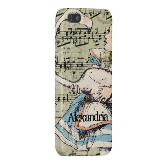 iPhone 5 Case Flamant Alice dans le coque iphone du pays des