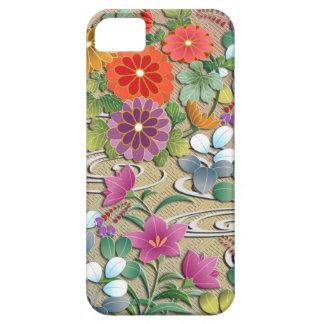 iPhone 5 Case Fleurs colorées lumineuses d'automne