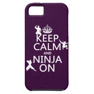 iPhone 5 Case Gardez le calme et le Ninja sur (dans toute