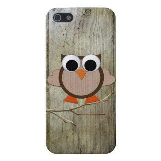 iPhone 5 Case Hibou lunatique et bois