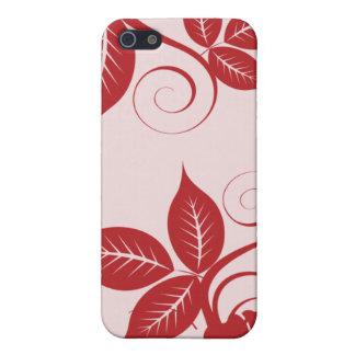 iPhone 5 Case Île rouge de 4 canneberges florale