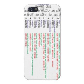 iPhone 5 Case Japonais 12 de nerfs crâniens