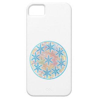 iPhone 5 Case La NEIGE s'écaille bleu