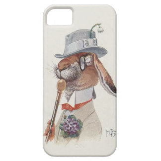 iPhone 5 Case Lapin anthropomorphe vintage drôle