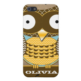iPhone 5 Case Le hibou mignon tourbillonne iPhone de parchemin