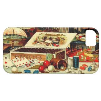iPhone 5 Case Le tisonnier de jeu vintage carde l'enterrement de