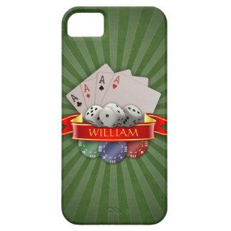 iPhone 5 Case Manie de tisonnier - les cartes, découpe, ébrèche