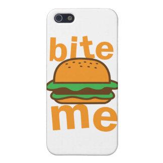 iPhone 5 Case mordez-moi ! avec l'hamburger mignon