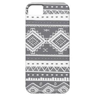 iPhone 5 Case Motif aztèque tribal de dentelle (gris)