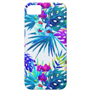 iPhone 5 Case Motif de fleur tropical de luxe