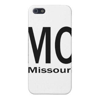 iPhone 5 Case Noir simple de MOIS Missouri