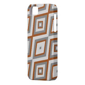 iPhone 5 Case Phonecase gris et brun de diamant