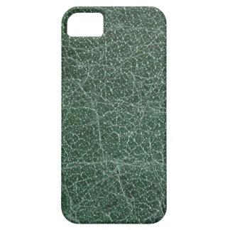 iPhone 5 Case Profondément vert-foncé sur la finition en cuir