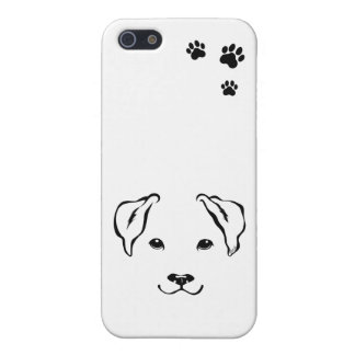 iPhone 5 Case Se tiré par la main unique d'iPhone de chien + cas