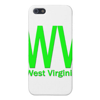 iPhone 5 Case Vert simple de WV la Virginie Occidentale