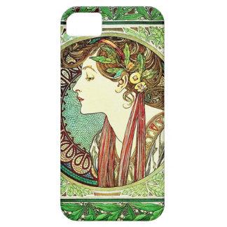 iPhone 5 van Alphonse Mucha Laurel Geval iPhone 5 Covers