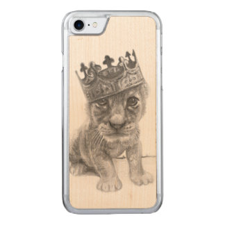 iPhone 6 de lion de bébé Coque En Bois iPhone 7