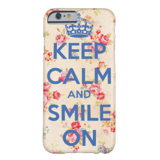 iPhone 6, Keep Calm and Smile On Coque Barely There iPhone 6