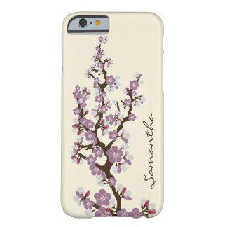 iPhone 6 (paars) Geval van de Bloesems van de kers Barely There iPhone 6 Case