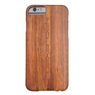 iPhone customisé par bois 6 couvertures de cas Coque iPhone 6 Barely There