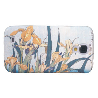 Iris et fleurs de Katsushika Hokusai de sauterelle Coque Galaxy S4