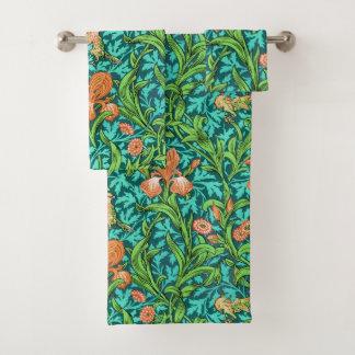 Iris, orange et turquoise de William Morris