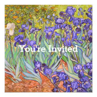 Iris par le chauffage de Chambre de beaux-arts de Carton D'invitation 13,33 Cm