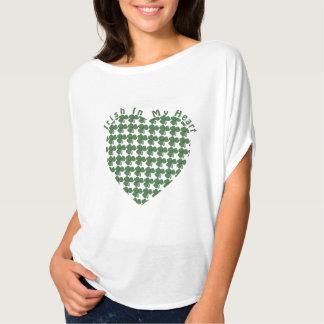 Irlandais à mon coeur t-shirt