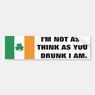 Irlandais Autocollant De Voiture