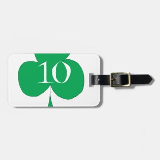 Irlandais chanceux 10 des clubs, fernandes étiquette à bagage