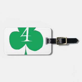 Irlandais chanceux 4 des clubs, fernandes élégants étiquette à bagage