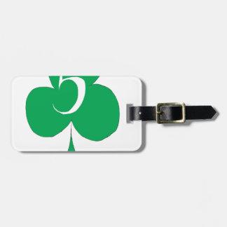 Irlandais chanceux 5 des clubs, fernandes élégants étiquette à bagage