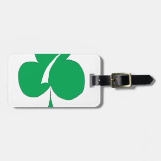 Irlandais chanceux 7 des clubs, fernandes élégants étiquette à bagage
