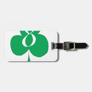 Irlandais chanceux 8 des clubs, fernandes élégants étiquette à bagage