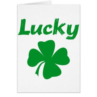 Irlandais chanceux carte de vœux