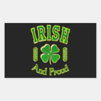 Irlandais et fier sticker rectangulaire