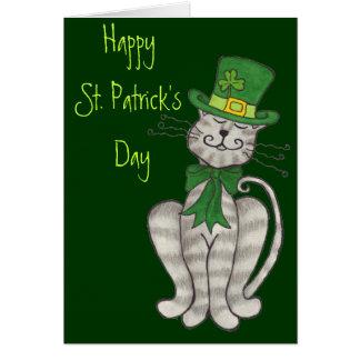 Irlandais Kitty - carte du jour de St Patrick
