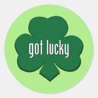 Irlandais - obtenu chanceux sticker rond