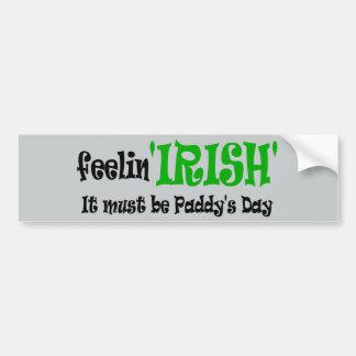 Irlandais se sentant - jour de Paddys Autocollant De Voiture