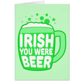 Irlandais vous étiez bière carte de vœux
