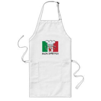 Italiaanse chef-kokBBQ schort met vlag van Italië