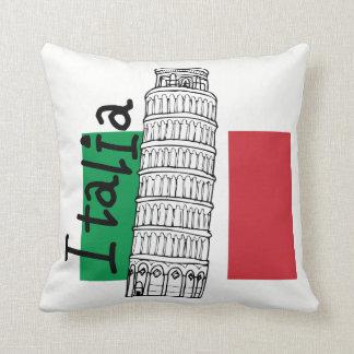 Italiaanse Vlag en Leunende Toren van Pisa Sierkussen