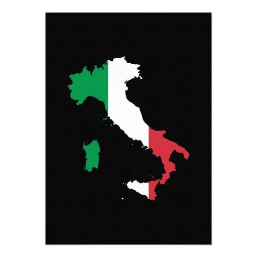 Italië in de Kleuren van de Vlag Custom Uitnodging