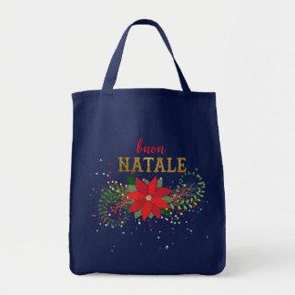 Italien Buon Natale de Joyeux Noël Tote Bag