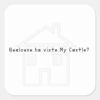 Italien-Château Sticker Carré