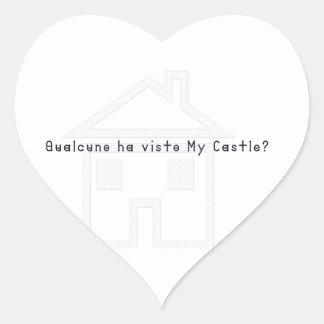 Italien-Château Sticker Cœur