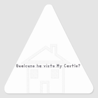 Italien-Château Sticker Triangulaire