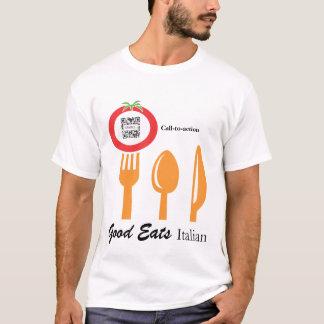 Italien dinant décontracté de modèle de T-shirt
