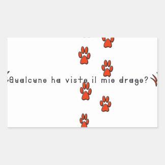 Italien-Dragon Sticker Rectangulaire